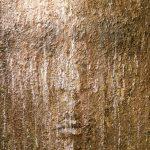 5. TESTA PRIMORDIALE.Terre du Costa Rica, terre Suisse, sable de l'Ile de la Réunion, sable Suisse, acrylique 120x100, 2016