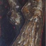 «Arbre III», 2018. Technique mixte, 150x50 cm.