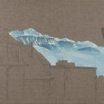 Chemin de Fontenay, 2018. Crayon et acrylique sur toile écrue, 90 x 135 cm.