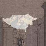 Chemin du Mont-Tendre 8, ter, 2019.  Crayon et acrylique sur toile écrue, 90 x 60 cm.