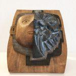 Tête chopé, 2017, sculpture sur bois