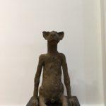 «Le chat», 2017, terre cuite, h: 50 cm
