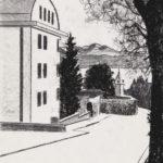 Papier Chemin de Chamblandes, 2019. Néocolor soluble sur papier, 40 x 30 cm.