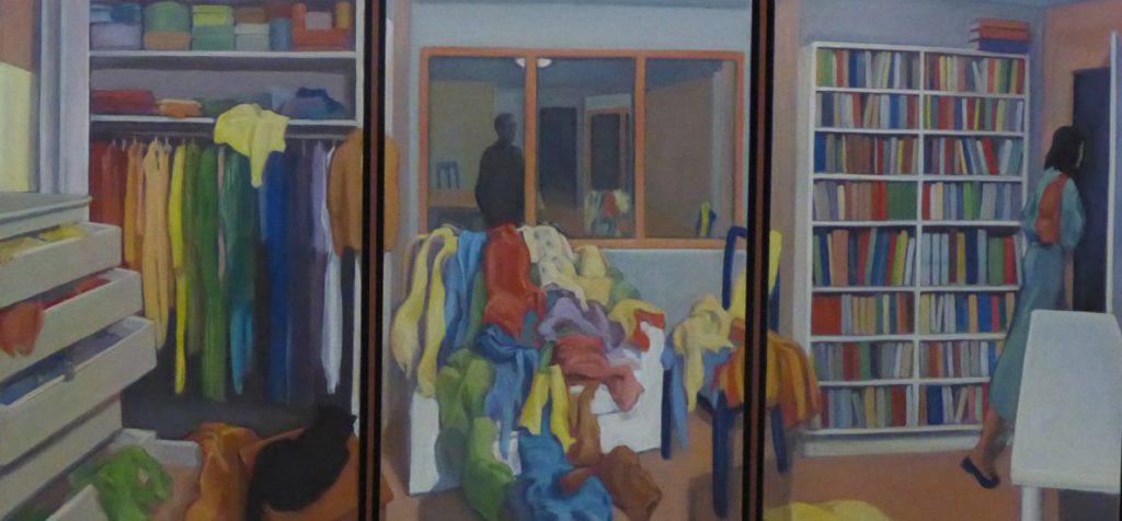 Un décision difficile 2014, triptyque 55 x 126 (3 toiles de 55 x 40 cm)