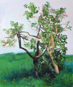 """""""Le lilas"""", 2016-2017, huile sur toile, 160 x 130 cm"""