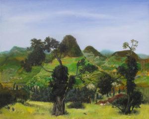 """""""Arbres dans la vallée"""", 2014-2015, huile sur toile, 80 x 100 cm"""