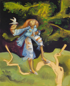 """""""Etude pour Beau monde 1"""", s.d., huile sur toile, 50 x 40 cm"""