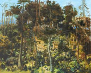 """""""Jardin"""", 2013-2014, huile sur toile, 130 x 160 cm"""