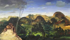 """""""La grotte"""", 2016-2018, huile sur toile, 90 x 155 cm"""