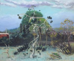 """""""Le Cabanon"""", 2014, huile sur toile, 38 x 46 cm"""