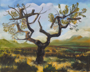 """""""Le cerisier"""", 2015, huile sur toile, 40 x 50 cm"""