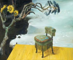 """""""Le prie-dieu"""", 2013, huile sur toile, 130 x 160 cm"""