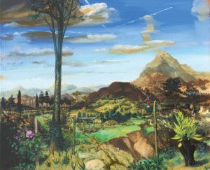 """""""Paysage à la vierge"""", 2014, huile sur toile, 130 x 160 cm"""