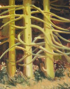 """aaLes branches"", 2017, huile sur toile, 50 x 40 cm"