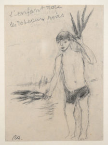 AUBERJONOIS, L'enfant rose..., s.d., 19 x 14 cm (feuille), 32 x 43 cm (cadre)