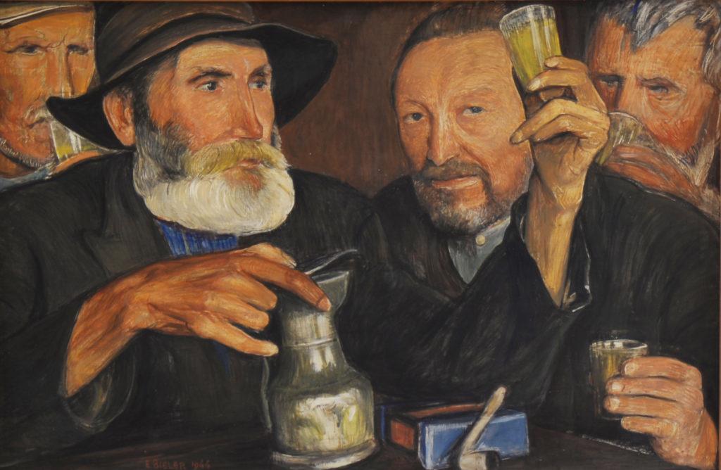 Bieler, le bon vin, 1944, tempera sur panneau, 44 x 67 cm, sans cadre