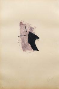 TAL COAT, Eau-forte en couleurs, 50 x 32.5 cm