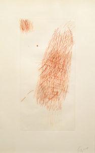 TAL COAT Eau-forte en couleurs non justifiée 39.5 x 20 cm