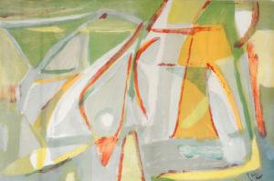 Van Velde, Elément, 1981, 64 x 98 cm (feuille), 87 x 120 cm (cadre) réf. no. 395