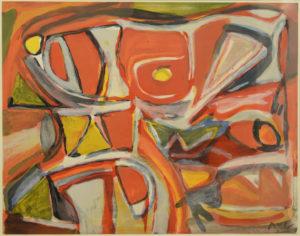 Van Velde, Embrasement, 1981, no. 59-100, 64.5 x 82 cm (feuille), 85 x 102 cm (cadre)