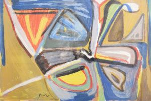 Van Velde, Le Bonheur de Matisse, 1981, 64 x 95.5 cm (feuille), 87 x 120 cm (cadre) réf. no. 386