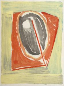 Van Velde, Lithographie, 1970, 62 x 47 cm (image), 84 x 67.5 (cadre), réf, no, 62