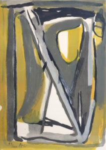 Van Velde, Sans titre, 1978, 88 x 62 cm (feuille), 109.5 x 82.5 (cadre), réf. no. 320