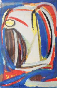 Van Velde, Sans titre, 1979, 96.5 x 63.5 cm (feuille), 87 x 120 cm (cadre), réf. no. 337