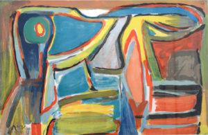 Van Velde, Vent de Sable, 1991, 63.5 x 99 cm (feuille), 87 x 120 cm (cadre), réf. no. 392