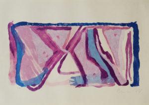 Van Velde, sans titre, 1975 46x65 (feuille), 56x75.5 cadre réf. no. 175