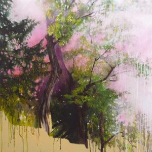 «Amer», 2010 Huile sur toile, 80 x 80 cm