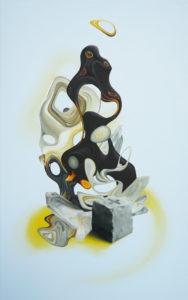 «Bassier», 2011 Huile sur toile, 120 x 75 cm