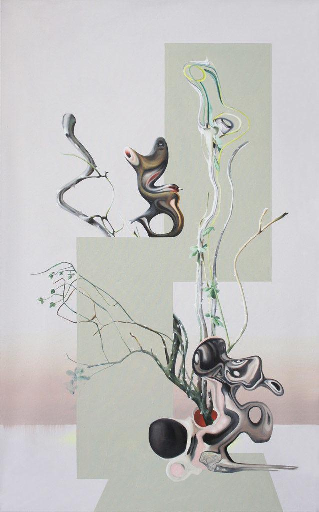 «Défricher», 2013 Huile sur toile, 120 x 75 cm