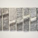 """""""Tide"""", 2001, alu., 7 pièces de 80 x 20 cm."""