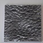 """Sea 1"", 2017, alu., 30 x 30 cm."