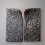 """""""Passage"""", 2018, alu., 2 pièces de 80 x 40 cm."""