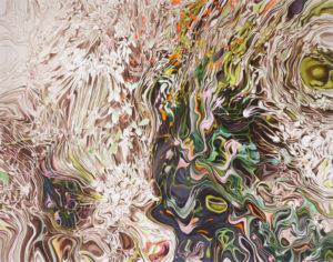 «Planter», 2010, Huile sur toile, 120×150 cm