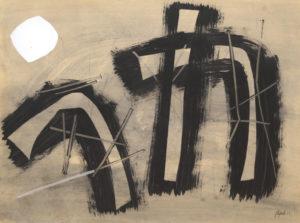 WINTER, WEB - Schwarzes Tor, 1954, huile sur papier marouflé, 75.5 x 100cm, 12000.